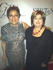 Me (left) and Suzanne Lindley at the Beat Liver Tumors NYC fashion fundraiser.