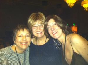 Me and fellow survivor friends Terri Dilts and Julie Deutsch enjoying the Saturday night dance at the conference.