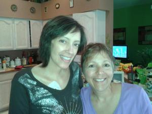 My miracle friend Darlene and I during a visit to her home last year.