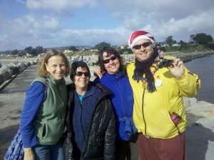 My friend Ann, me, my sister-in-law Kim, and my brother Doug hanging out in Santa Cruz, CA a few holidays ago.